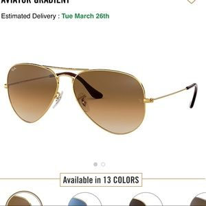 Brown Aviator Gradient Ray-Bands